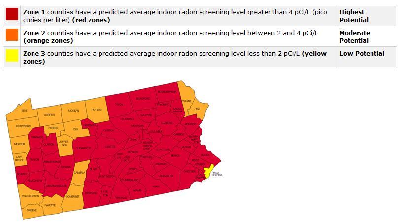 Colorado Radon Map
